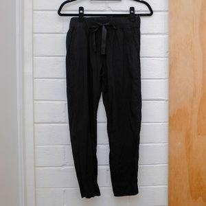 Theory Drawstring Linen Pants, Size P